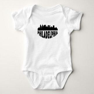Philadelphia PA Cityscape Skyline Baby Bodysuit
