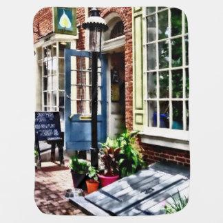 Philadelphia Pa Coffeehouse Baby Blanket
