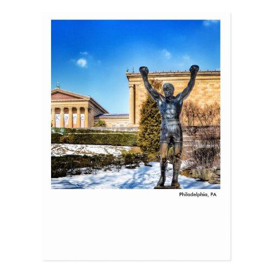 Philadelphia PA- Rocky Statue Postcard