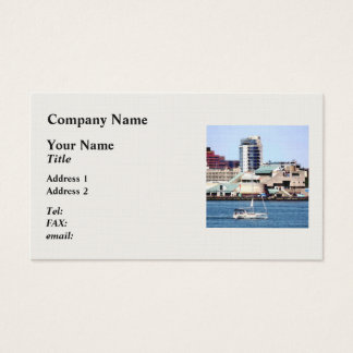 Philadelphia PA - Sailboat by Penn's Landing Business Card