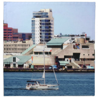 Philadelphia PA - Sailboat by Penn's Landing Napkin
