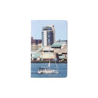 Philadelphia PA - Sailboat by Penn's Landing Pocket Moleskine Notebook