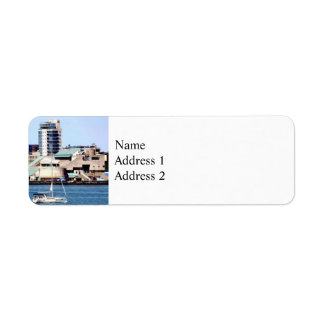 Philadelphia PA - Sailboat by Penn's Landing Return Address Label