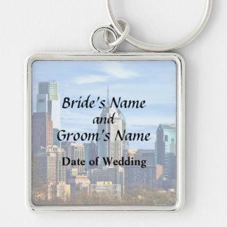 Philadelphia Pa Skyline II Wedding Products Key Ring