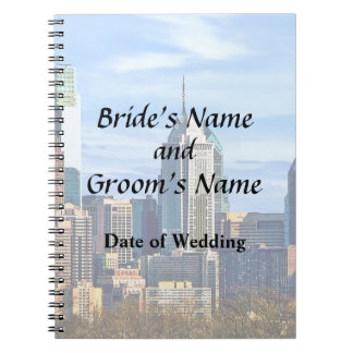 Philadelphia Pa Skyline II Wedding Products Notebooks