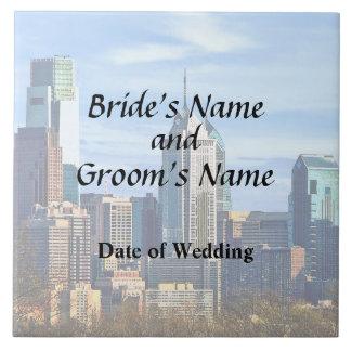Philadelphia Pa Skyline II Wedding Products Tile