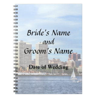 Philadelphia Pa Skyline Wedding Supplies Notebook