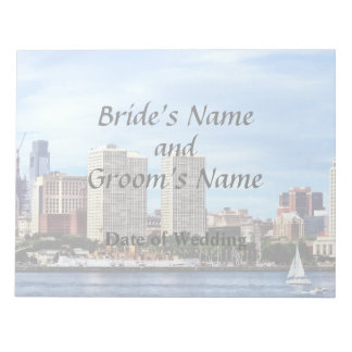 Philadelphia Pa Skyline Wedding Supplies Notepad