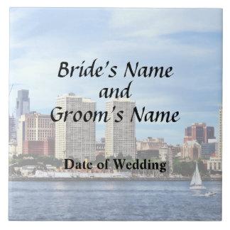Philadelphia Pa Skyline Wedding Supplies Tile