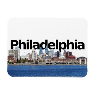 Philadelphia PA Skyline with Philadelphiin the Sky Magnet
