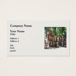 Philadelphia PA - Society Hill Street Business Card