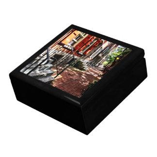 Philadelphia PA Street With Orange Shutters Gift Box