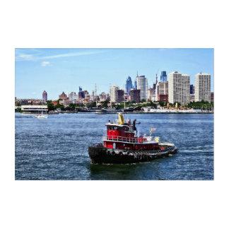 Philadelphia PA - Tugboat by Philadelphia Skyline Acrylic Wall Art