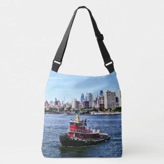 Philadelphia PA - Tugboat by Philadelphia Skyline Crossbody Bag