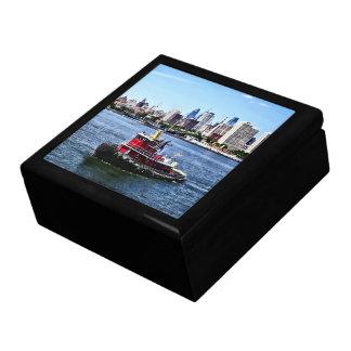 Philadelphia PA - Tugboat by Philadelphia Skyline Gift Box