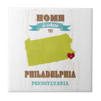 Philadelphia, Pennsylvania Map – Home Is Where The Small Square Tile