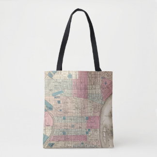 Philadelphia, Pennsylvania Map Tote Bag