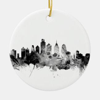 Philadelphia Pennsylvania Skyline Ceramic Ornament