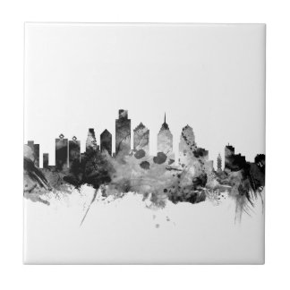 Philadelphia Pennsylvania Skyline Ceramic Tile