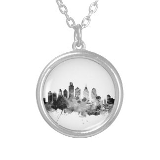 Philadelphia Pennsylvania Skyline Silver Plated Necklace