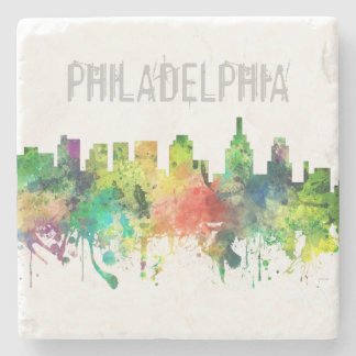 PHILADELPHIA PENNSYLVANIA SKYLINE SP  - STONE COASTER