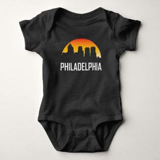 Philadelphia Pennsylvania Sunset Skyline Baby Bodysuit