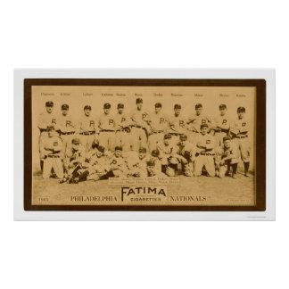 Philadelphia Phillies Team 1913 Poster