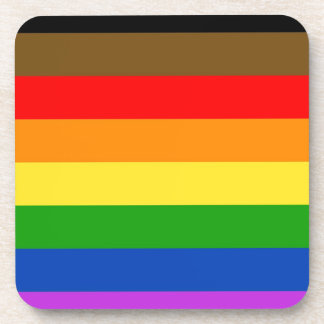 Philadelphia pride flag coaster