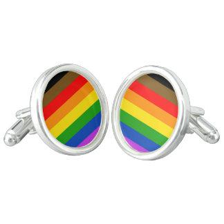 Philadelphia pride flag cufflinks