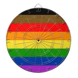 Philadelphia pride flag dartboard