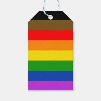 Philadelphia pride flag gift tags