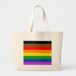 Philadelphia pride flag large tote bag