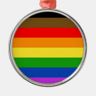 Philadelphia pride flag metal ornament