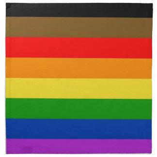 Philadelphia pride flag napkin
