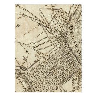 Philadelphia Road Map Postcard
