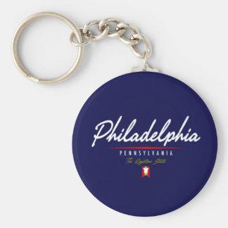 Philadelphia Script Key Ring