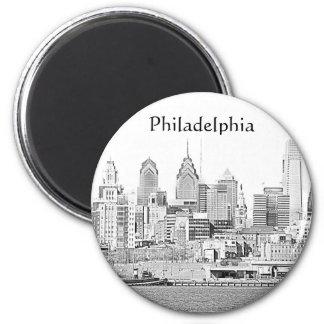 Philadelphia Sketch Magnet