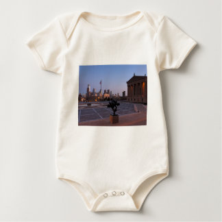 Philadelphia Skyline at Dusk Baby Bodysuit