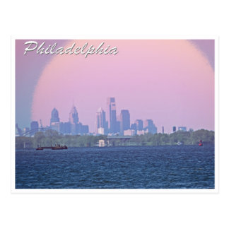 Philadelphia Skyline From Bucks County Postcard