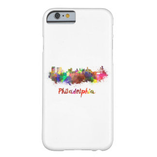 Philadelphia skyline in watercolor barely there iPhone 6 case