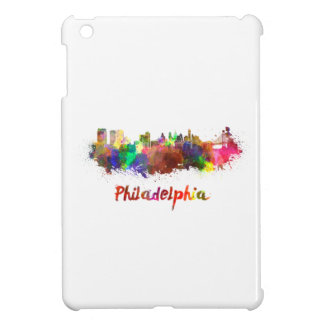 Philadelphia skyline in watercolor iPad mini cover