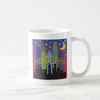 Philadelphia Skyline nightlife Coffee Mug