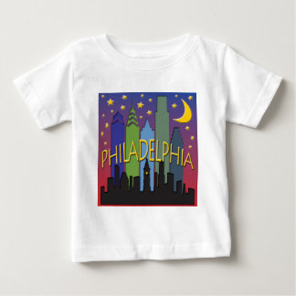 Philadelphia Skyline nightlife T Shirt