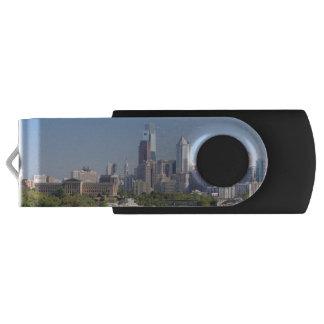 Philadelphia Skyline USB Flash Drive Swivel USB 2.0 Flash Drive