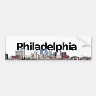 Philadelphia Skyline with Philadelphia in the Sky Bumper Sticker