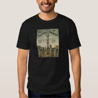 Philadelphia Skyscrapers (1898 Vintage Poster) T-shirts