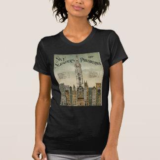 Philadelphia Skyscrapers (1898 Vintage Poster) Tee Shirts