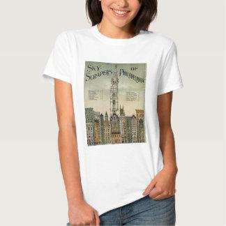 Philadelphia Skyscrapers (1898 Vintage Poster) Tshirt