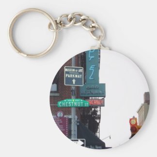 Philadelphia Street Key Ring