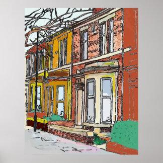 Philadelphia Street Poster